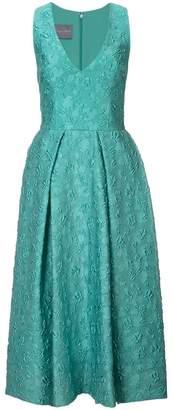 Monique Lhuillier V-neck midi dress