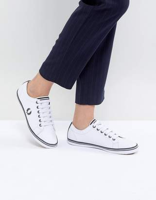 Fred Perry Kingston Lace Up Sneaker with Tipping Detail