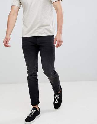 Celio Slim Fit Jeans With Stretch In Black Wash