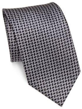 BrioniBrioni Herringbone Silk Tie
