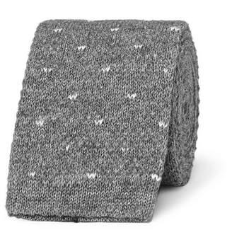 Loro Piana 5cm Polka-Dot Knitted Cotton Tie