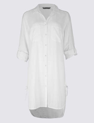 Marks and Spencer Pure Cotton Long Sleeve Beach Dress