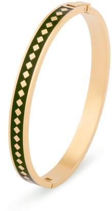 Florence London Green Diamond Enamel Bracelet