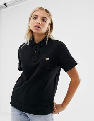 Lacoste x Opening Ceremony short sleeve pocket detail polo