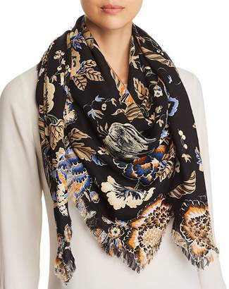 Tory Burch Happy Times Oversized Floral Print Scarf