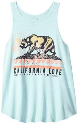 Billabong Kids Love Cali Bear Tank Top Girl's Sleeveless