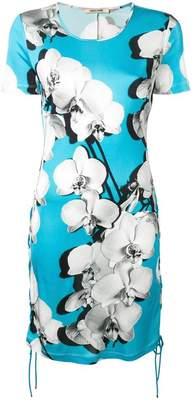 Roberto Cavalli Orchid print tube dress