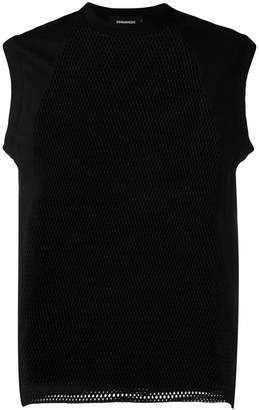 DSQUARED2 mesh panels tank top