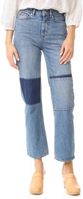 La Vie Rebecca Taylor Amelie Patchwork Jeans $235 thestylecure.com