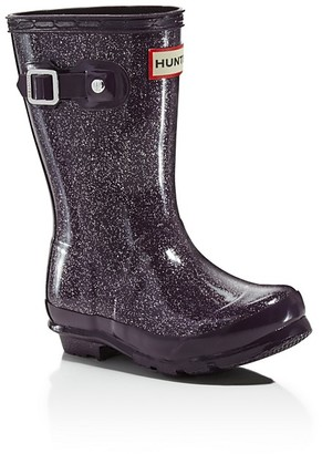Hunter Girls' Original Glitter Rain Boots - Little Kid, Big Kid $80 thestylecure.com