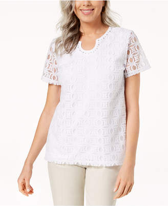 Alfred Dunner Perfect Match Lace Top