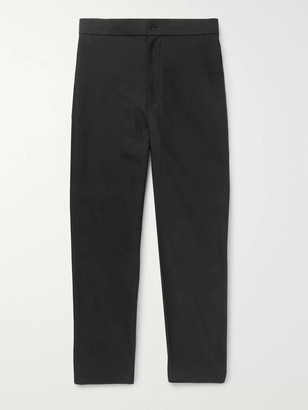 The Row Black LA Track Slim-Fit Tapered Cotton Trousers - Men - Black