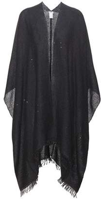 Brunello Cucinelli Cashmere and silk poncho cardigan