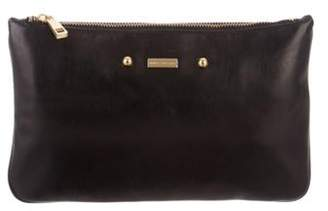 Marc Jacobs Leather Zip Pouch Black Leather Zip Pouch
