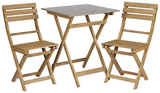 Croft Collection Islay Garden Bistro Table and 2 Chair Set, FSC Certified (Eucalyptus)