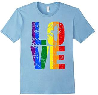 Big Texas Distressed LOVE LGBT Rainbow Pride T-Shirt