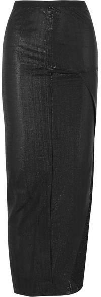 Rick Owens Lamé Maxi Skirt - Black