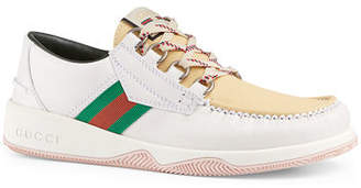 Gucci Men's Agrado Leather Boat Shoes