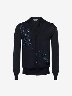 Alexander McQueen Floral Embroidered Cardigan