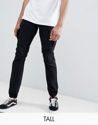 Replika Tall Cargo Pants In Black