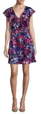 Parker Floral-Print Tiered Dress
