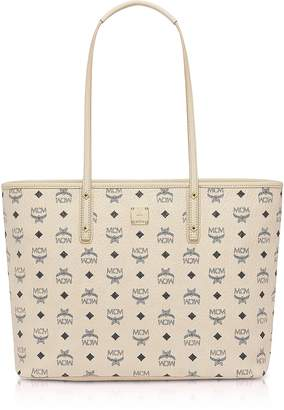 MCM Beige Anya Top Zip Medium Shopper