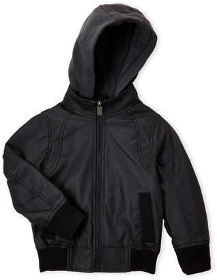 Urban Republic Boys 4-7) Faux Leather Hooded Jacket