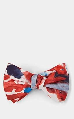 Alexander McQueen Men's Painter's Palette Silk Bow Tie - Red