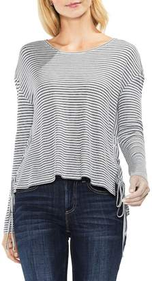 Vince Camuto Lace-Up Side Stripe Top