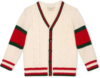 Gucci Kids Children's cable knit wool cardigan