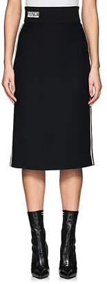 Fendi Women's Logo-Waistband Wool-Silk Pencil Skirt