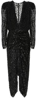 Maray flocked velvet dress