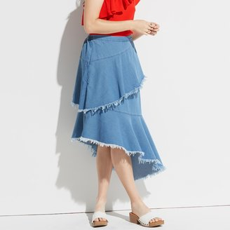 k / lab k/lab Tiered Denim Skirt