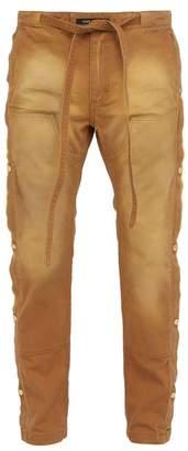 Fear Of God Tearaway Side Fastening Cotton Canvas Trousers - Mens - Beige