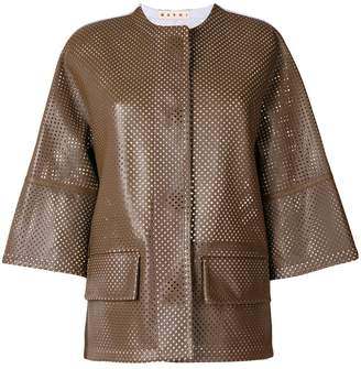 Marni perforated leather jacket