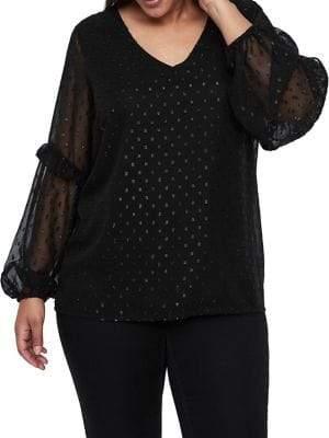 Junarose Plus #518 Lidia Long-Sleeve Blouse