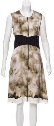 Narciso Rodriguez Digital Print Silk Dress