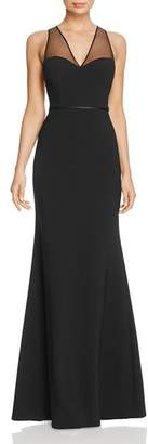 JS Collections Illusion Cutout Back Gown