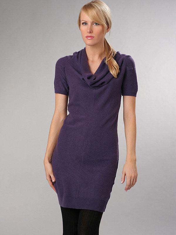 Alisha Levine Cowl Neck Short Sleeve Dress