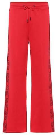 Cotton-blend jogging pants