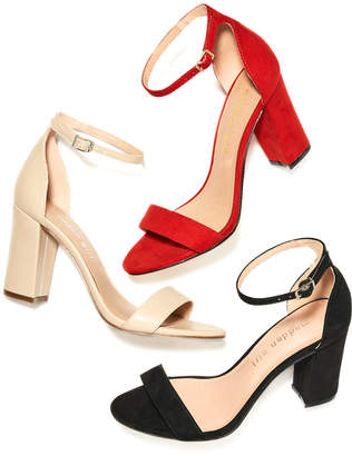 Madden-Girl Bella Two-Piece Block Heel Sandals