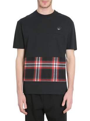 McQ T-shirt With Tartan Insert