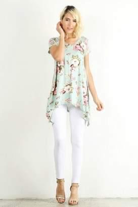 Lara Floral Asymmetric Tunic