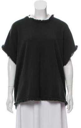 Allude Fringe-Trimmed Cashmere Sweater w/ Tags