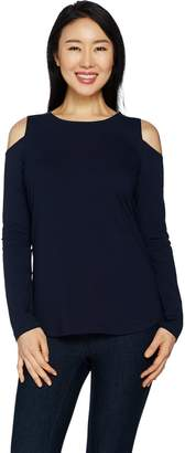 Women With Control Women with Control Cold-Shoulder Knit Top