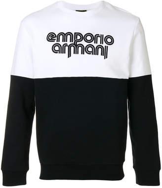 Emporio Armani front logo sweatshirt