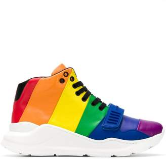 Burberry rainbow high-top sneakers