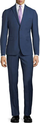 Neiman Marcus Slim-Fit Two-Piece Wool Suit, Navy