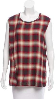 AllSaints Sleeveless Plaid Top
