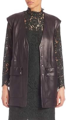 SET Women's Belted Leather Vest
